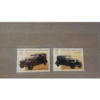 Транспорт, автомобили, машины, ретро, марки Ватикан 1997