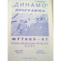 1987 год Динамо Минск--Зенит Ленинград--кубок федерации