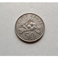 Сингапур 50 центов, 1987, Singapore 50 cents, 1987