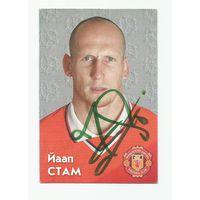 Jaap Stam(Manchester United, Англия). Живой автограф на календарике.