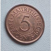 Маврикий 5 центов, 1995 7-1-4