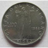 Ватикан 100 лир 1962