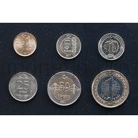 Турция 6 монет 2011-2015 годов.