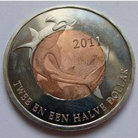О.Синт-Эстатиус 2,5 доллара 2011 г