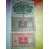 Германия 1-2-2 марок