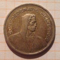 Швейцария 5 франков 1954г