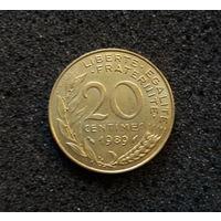 Франция, 20 сантим 1989