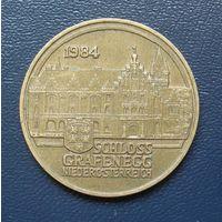 20 шилингов 1984 год. Австрия. Дворец Графенегг.