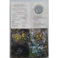 Сертификат в Блистере Блистерная упаковка Футляр для монеты серии  Зодиакальный гороскоп Козерог Водолей Рыбы Овен Телец  Близнецы Дева Весы Скорпион Стрелец