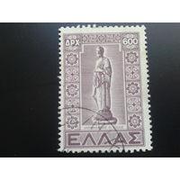 Греция 1947 статуя Гиппократа, врач