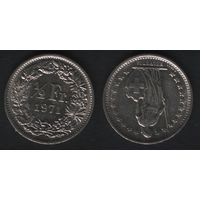 Швейцария km23a.1 1/2 франка 1971 год (-) (f20)*