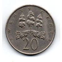 ЯМАЙКА. 20 ЦЕНТОВ 1969. ФЛОРА