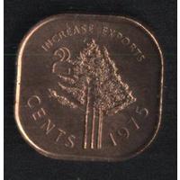 Свазиленд 2 цента 1975 г. FАО. Сохран!!