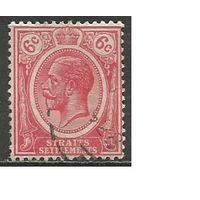 Стрейтс и Сетлментс. Король Георг V. 1922г. Mi#180.