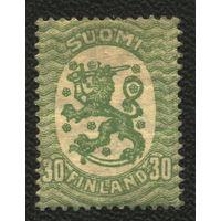 Кошки. Финляндия. 1925. Стандарт 30p. Лев на гербе. Чистая