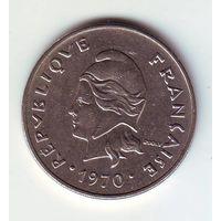 Французская полинезия. 20 франков 1970 г.