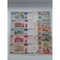 Сборный лот банкнот РБ 1992-2000 г.
