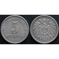YS: Германия, 5 пфеннигов 1920F, KM# 19