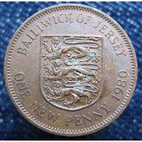 W: Джерси 1 новый пенни 1980 (624)