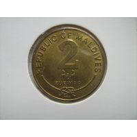 Мальдивы 2 руфии 2007г.
