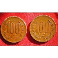 Чили 100 песо (pesos)1985/1995