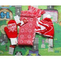 Шапка, шарф, варежки для ребенка