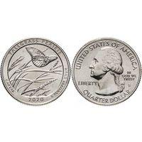 25 центов США 2020   Заповедник Толлграсс-Прери (Канзас) Двор D