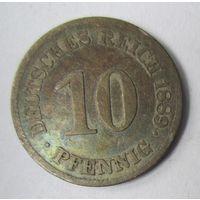 Германия. 10 пфеннигов 1889 E.  2-97