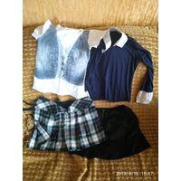 Вялікі мяшок  адзення для дзяўчынкі. Спадніцы, блузкі, штаны, комбензоны, школьная форма і іншае. Юбка, блузка, брюки, комбензон, школьная форма и другое. На фото малая часть, одежды много.