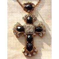 Крест наперстный , Архиерейский , Большой. Камни , Позолота.