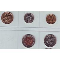 Руанда. Комплект из 5 монет