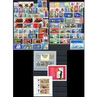 ГДР - 1975г. - Полный годовой набор - MNH [Mi 2012-2106] - 78 марок, 2 сцепки, 2 блока, 1 малый лист