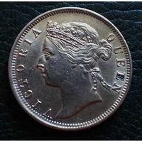 Стрейтс Сетлментс 20 центов 1901 (СЕРЕБРО) UNS