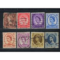 Великобритания 1958-67 ЕII Стандарт Wz22 #321-5,327,332,334