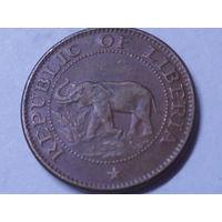 Либерия 1 цент 1972 г. Корабль.