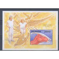 [1197] Уганда 1995. Фауна.Динозавры. БЛОК.