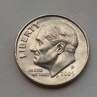 10 центов (дайм) США 2005 Р, AU