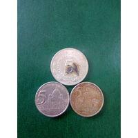 Сборный лот Югославия 5 динар 3 шт  1973.2002.2003 г