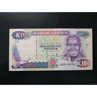Замбия 100 квача 1991 UNC