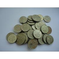 Литва набор жёлтых монет (для хендмея )