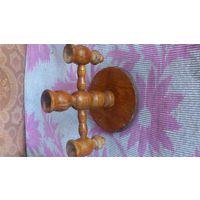 Подсвечник деревянный на 3 свечи