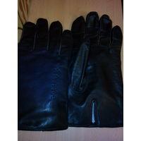 Перчатки мужские, кожаные на подкладке, р. 9,5