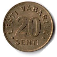 Эстония. 20 сентов. 1992 г.