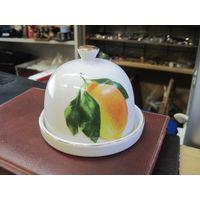 Масленка, лимонница, фарфор, 8,5х11,5 см.
