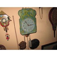 Часы ходики Мишки в сосновом лесу СССР 70-е г