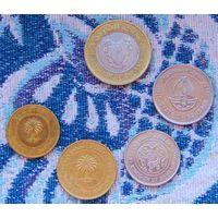 Королевство Бахрейн 5, 10, 25, 50, 100 филсов. Пальма. UNC. Инвестируй в монеты планеты!