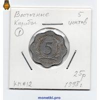 Восточные Карибы 5 центов 1998 года.