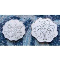 Свазиленд 5 центов 1999 г. и 10 центов 2005 г. Инвестируй в коллекционирование!