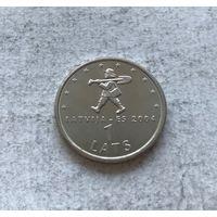 Латвия 1 лат 2004 Мальчик-с-пальчик