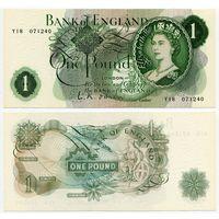 Великобритания. 1 фунт (образца 1960 года, P374a, подпись O'Brien, UNC)
